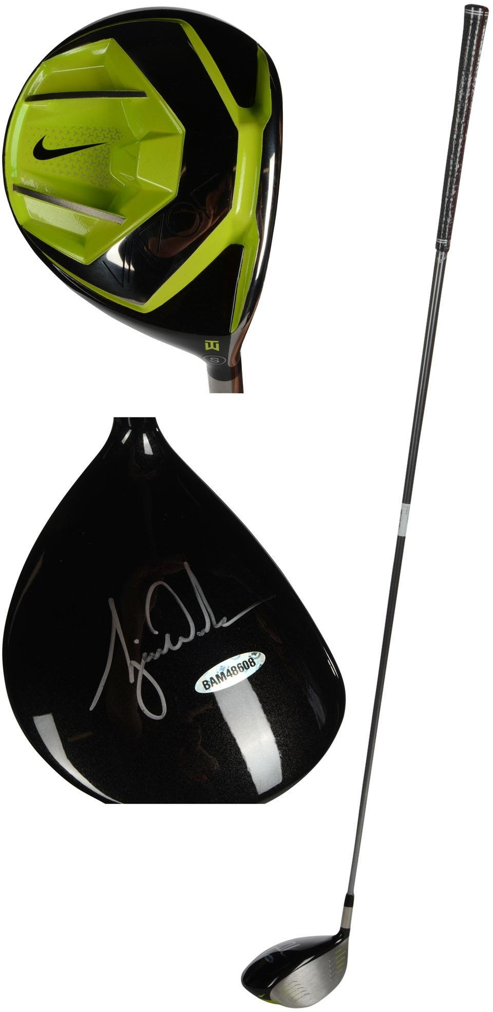 Tiger Woods Autographed Nike Vapor Speed TW Driver Upper Deck Fanatics Authentic Certified Autographed Golf Clubs