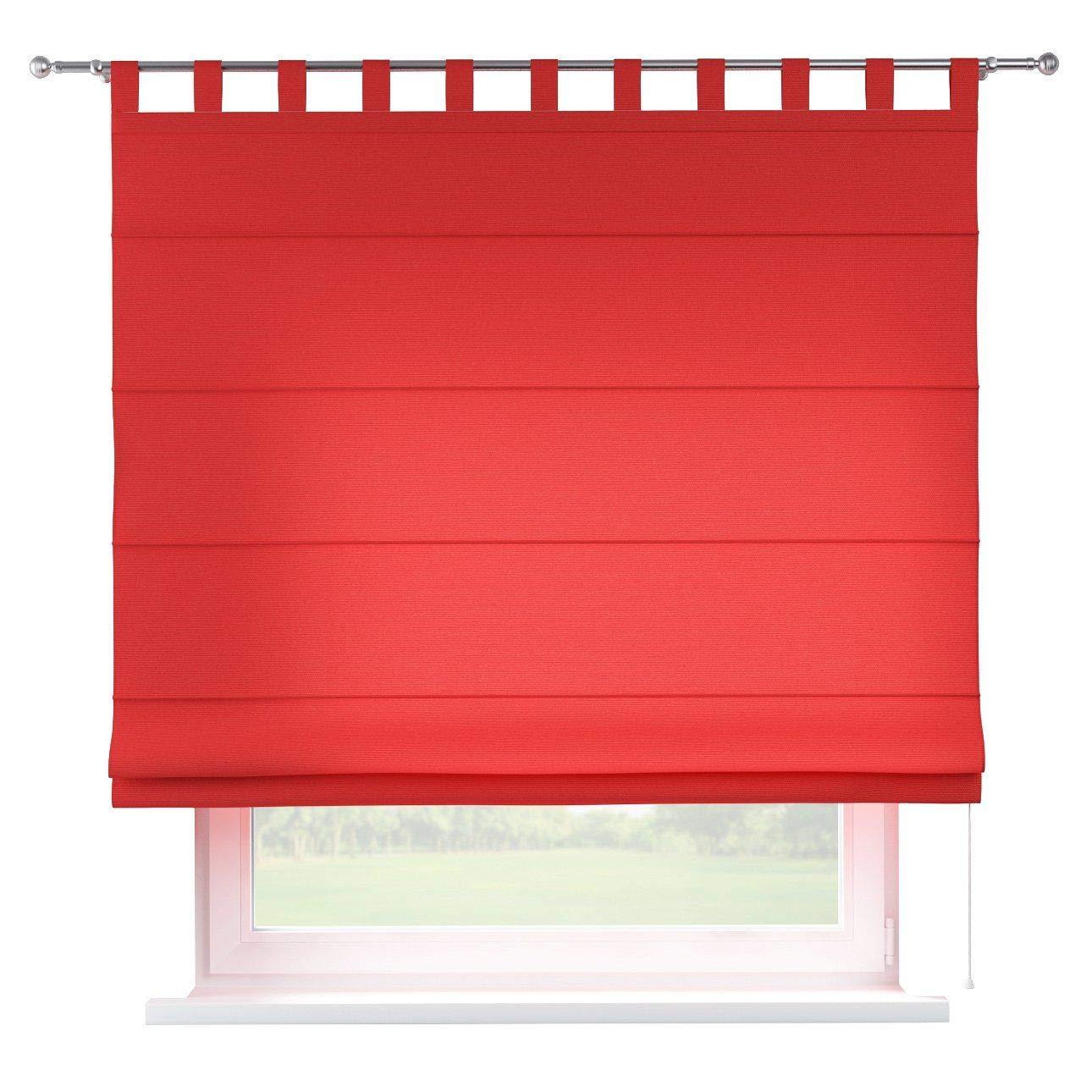 Dekoria Raffrollo Verona ohne Bohren Blickdicht Faltvorhang Raffgardine Wohnzimmer Schlafzimmer Kinderzimmer 130 × 170 cm rot Raffrollos auf Maß maßanfertigung möglich
