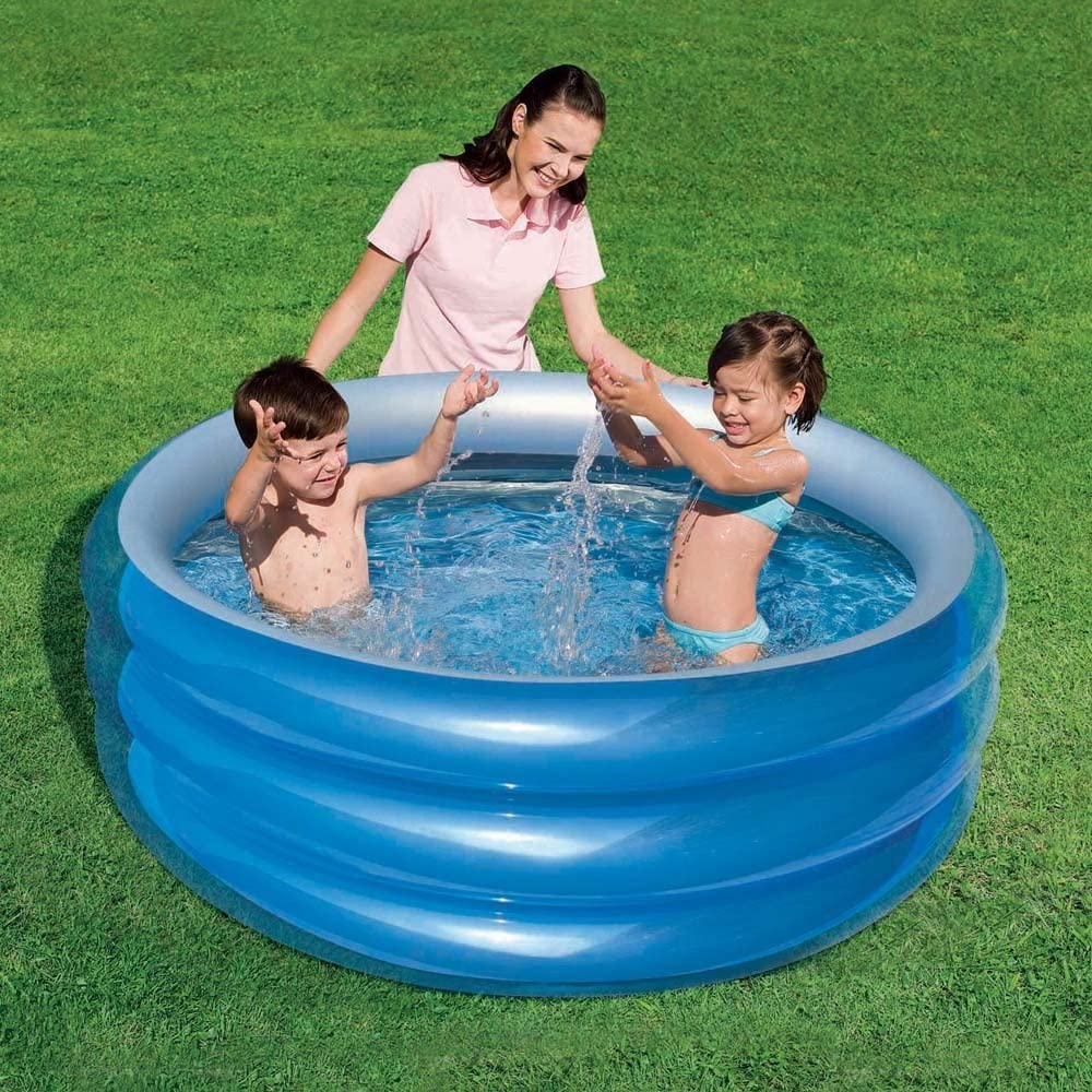 51041 Piscina inflable modelo Bestway 3 anillos 150 x 53 cm azul ...