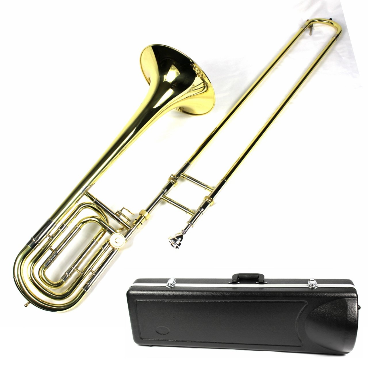 Brand New Bb/F Bass Trombone w/ Case and Mouthpiece- Gold Lacquer Finish