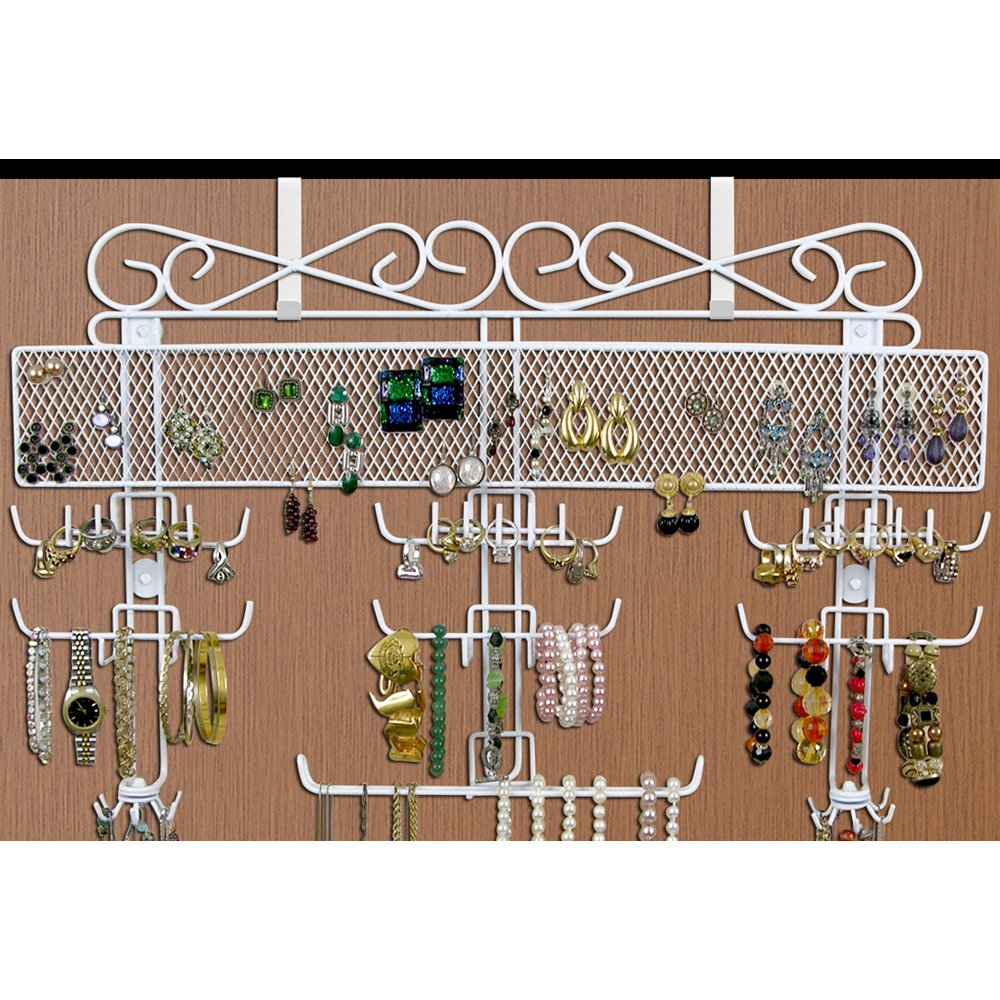 Jobar Organizing Jewelry Valet coated wire (White) (14.5