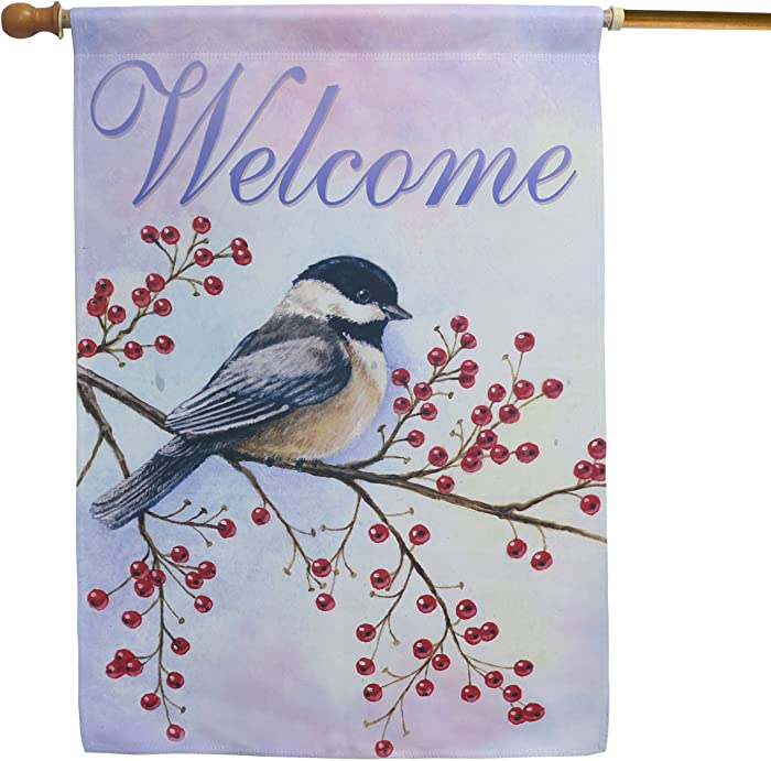 LAYOER Home Garden Flag 28 x 40 Inch Decorative House Double Sided Banner (Bird Welcome)