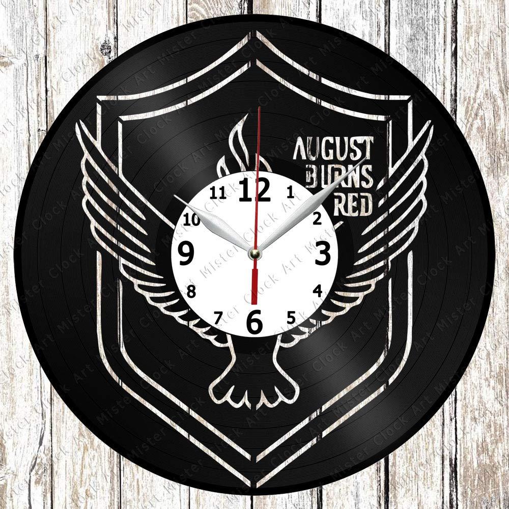 Vinyl Clock - Vinyl Wall Clock - August Burns Red - Handmade Original Gift - Custom Design - Personalised Vinyl Record Wall Clock - Unique Art Home Decor -