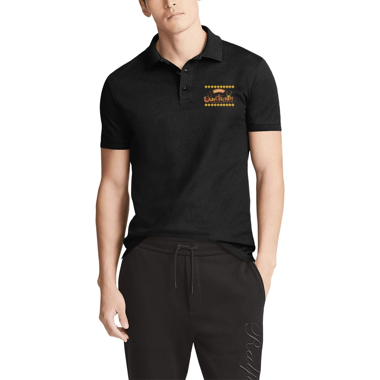 WENL Happy Juneteenth Day Mens Business Funky Polo Shirt