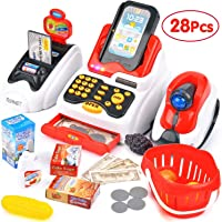 Farraige® Exclusive Cash Register for Kids with Checkout Scanner,Fruit Card Reader, Credit Card Machine, Play Money and Food Shopping Play Set