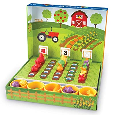 Learning Resources Veggie Farm Sorting Set, Food Sorting Game, Easter Basket Toy, 46 Pieces, Ages 3+: Toys & Games