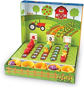 Learning Resources Veggie Farm Sorting Set, Food Sorting Game, 46 Pieces, Ages 3+