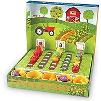 Learning Resources LER5553 Veggie Farm Sorting Set (46 Piece)