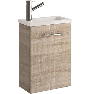 Cygnus Bath Mini Mueble lavamanos de baño, suspendido, con 1 Puerta de Cierre amortiguado,…