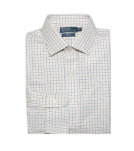 Polo Ralph Lauren Hombre Regent clásico camisa cuadros blanco y ...