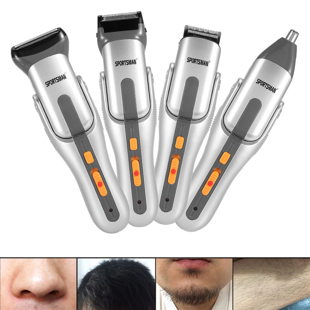 5 In 1 Electric Trimmer, Men Nosal Facial Ear Hair Epilator Eyebrow Shaver Professional Cutter Kits Anself