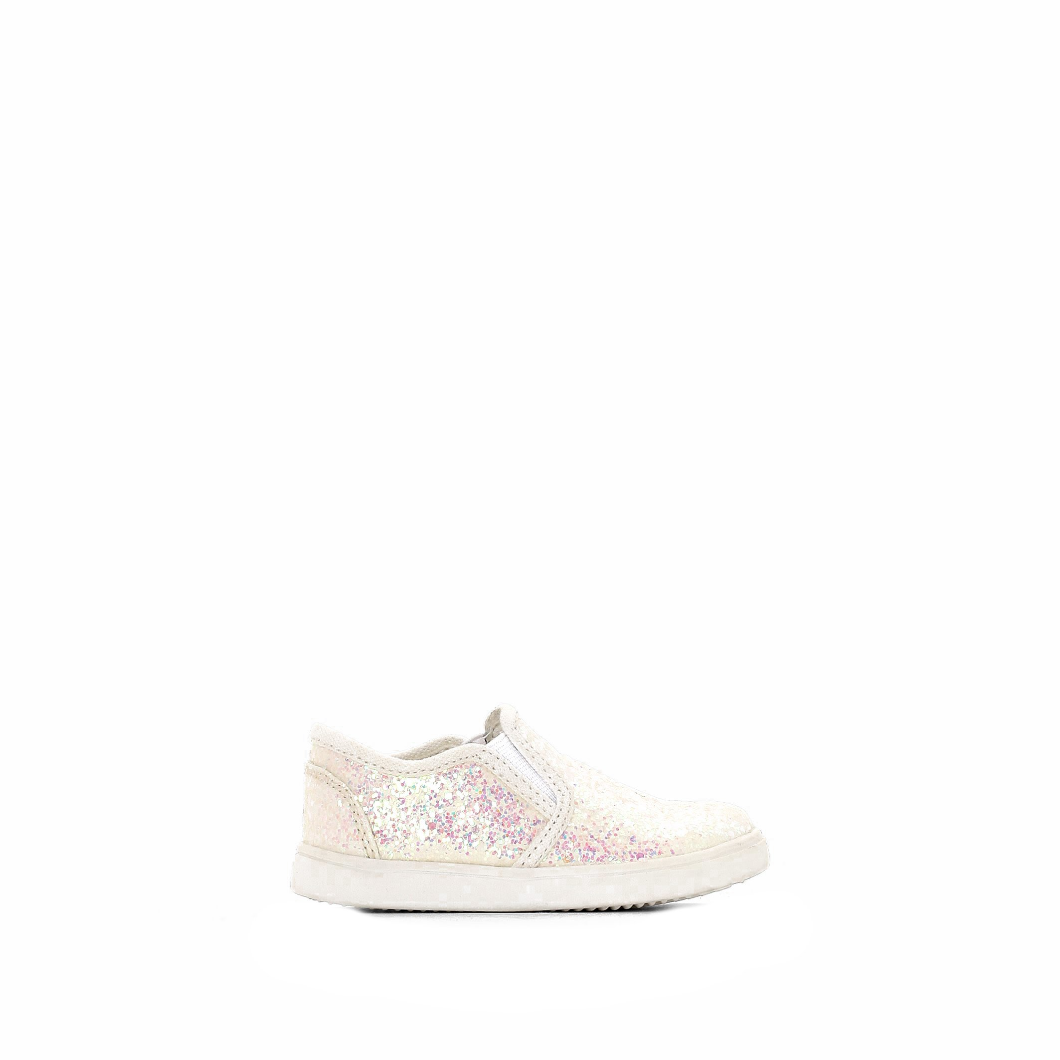 La Redoute Collections Big Girls Glittery Slip-On Trainers Beige Size 19