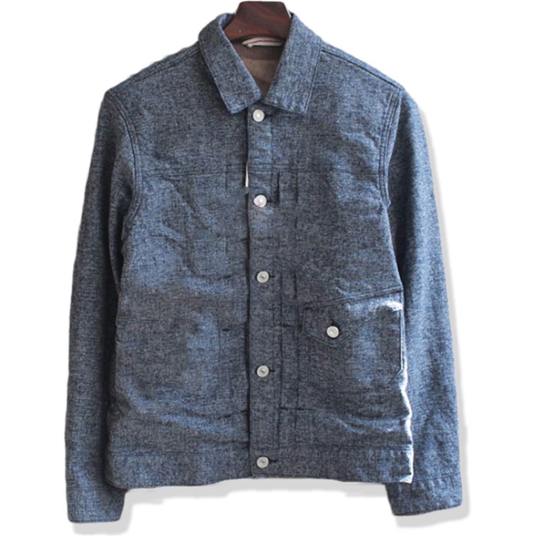 Vintage Cargo Denim Jacket Men Jacquard Chaqueta Hombre ...