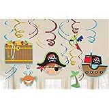 Amscan 671622 Little Pirate Lot de décorations tourbillon Thème petit pirate
