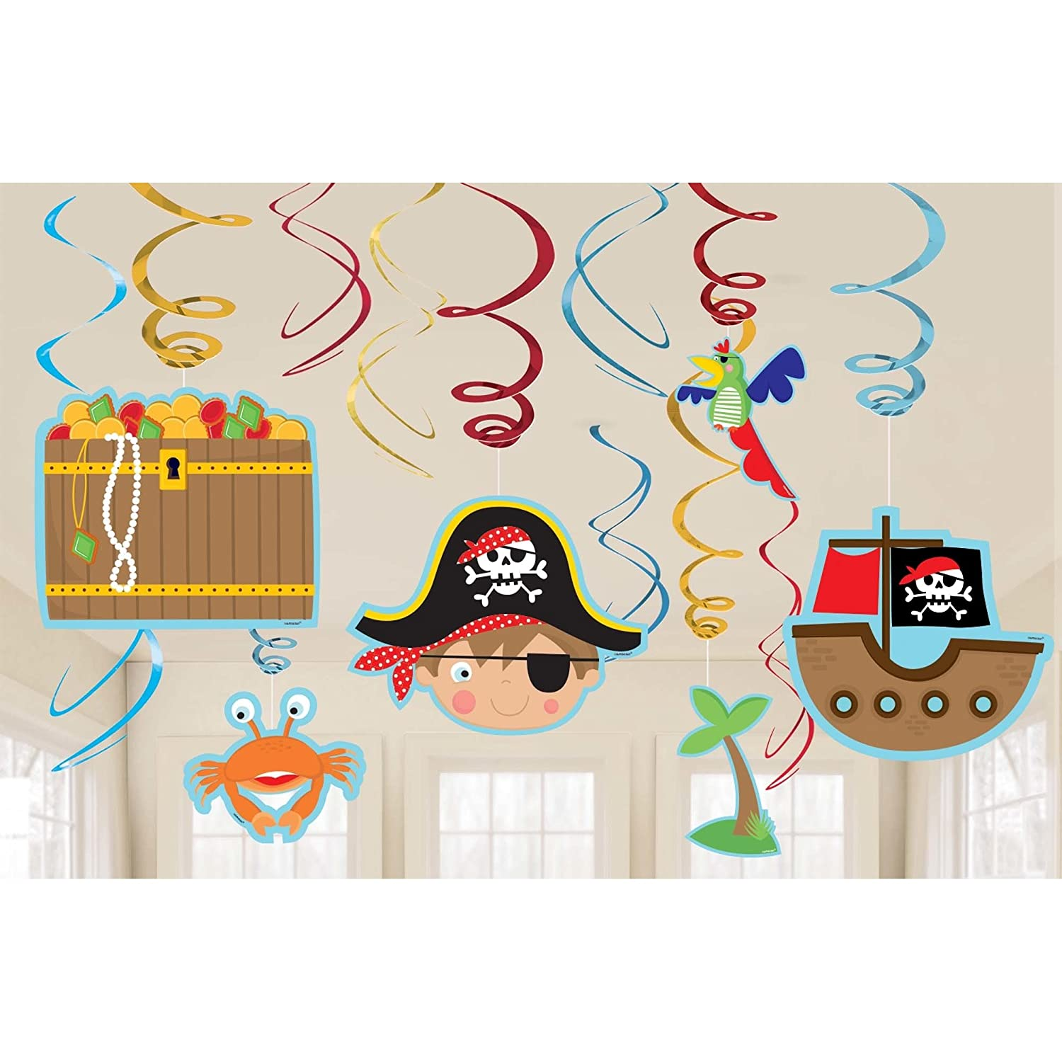 Pirate/'s Treasure Map Birthday Party Backdrop Scene Setters Wall Decorating Kit