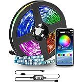 YOMYM Tira LED 2m USB, Luces LED RGB Bluetooth Control de App 16 Millones de Color, Modo de Escena soporta TV 40-60 Pulgadas