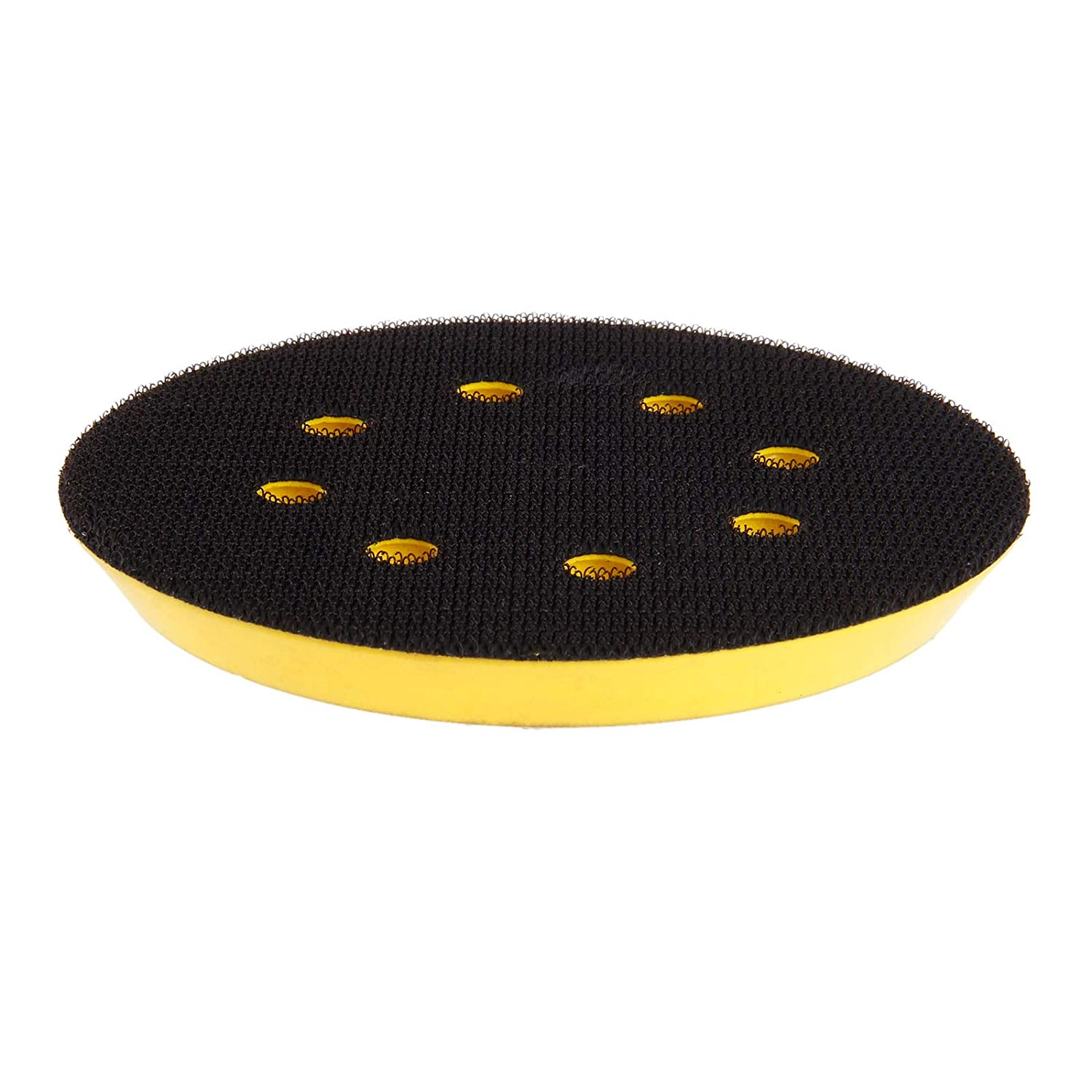 5 Inch Hook and Loop Sanding Pad with 8 Holes Threads for Pneumatic Sanders
