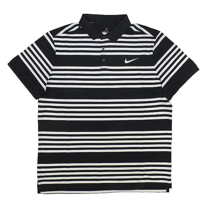 Nike Mens Court Dry Tennis Polo Black/White/Pure Platinum Size ...