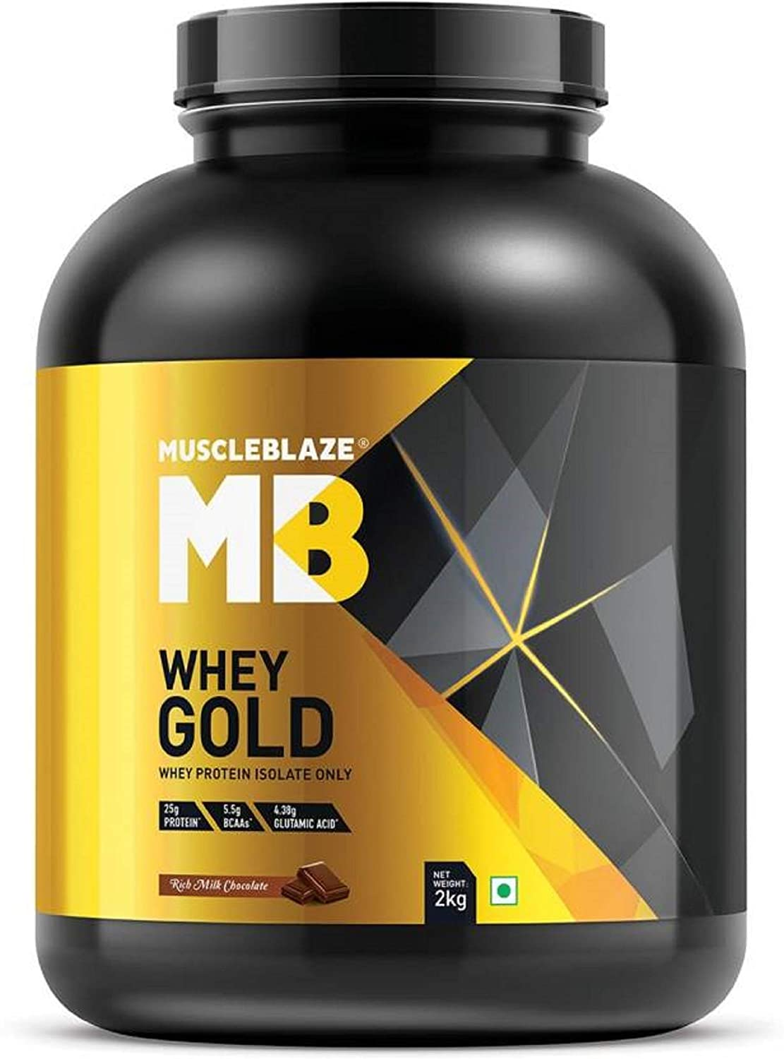 Amazon.com: MuscleBlaze Whey Gold Protein, 4,4 lb Rich Milk ...