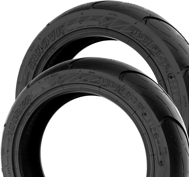 Sidewinder Innova Roller Set pneumatici 120//70/ /12/+ 130//70/ Elyseo 150/ 100 Django 150 /12/Peugeot Django 50 Elyseo 50 125