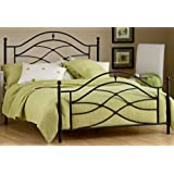 Hillsdale Furniture 1601BQR Cole Bed Set with Rails, Queen, Black Twinkle