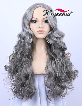 amazon com k ryssma fashion looking ombre light silver to dark