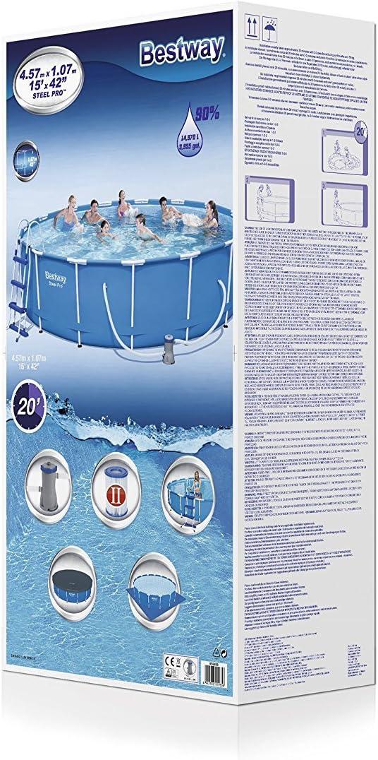 Bestway 56488 Piscina Steel Pro MAX con depuradora, M: Amazon.es ...
