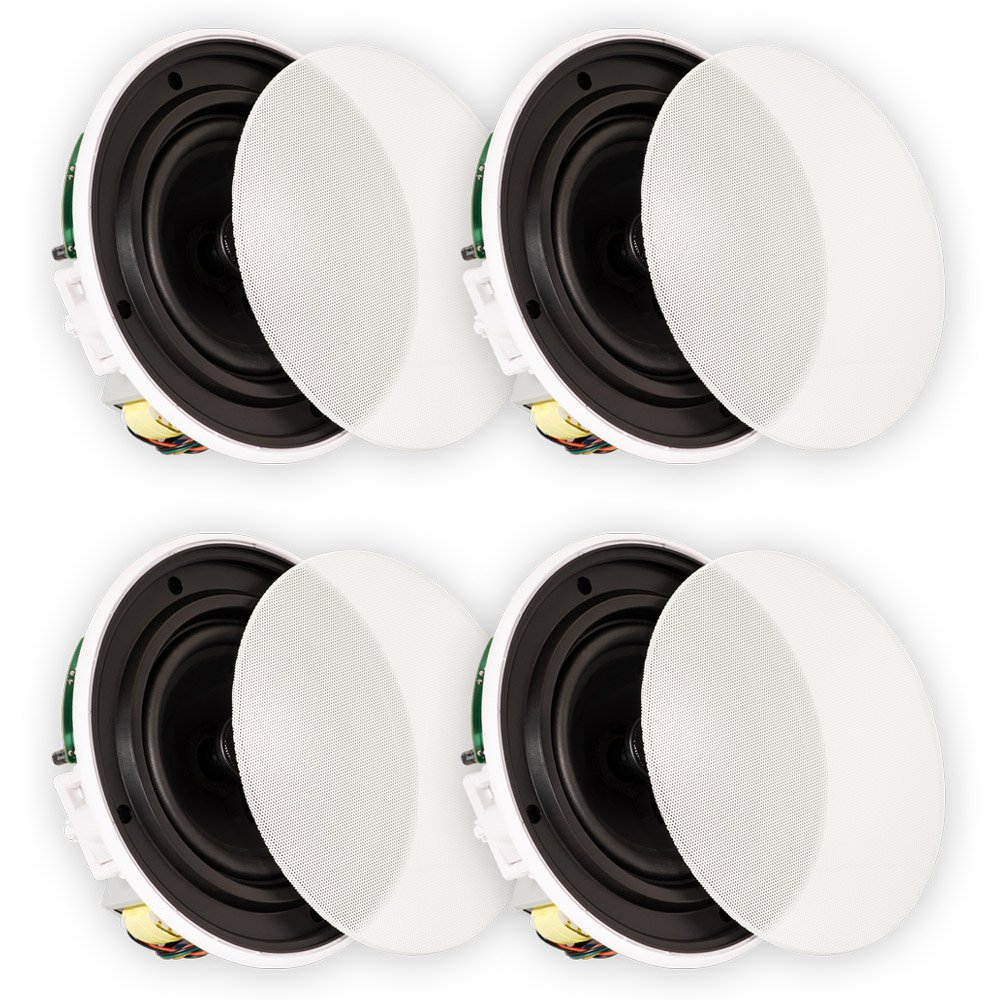 Theater Solutions TSQ670 In Ceiling 70 Volt 6.5'' Speakers Quick Install 2 Pair Pack 2TSQ670
