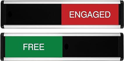 Viro libre/Engaged símbolo de puerta corredera (verde/rojo Edition ...