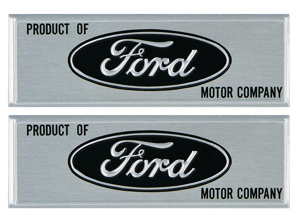 New 1963-65 Ford Falcon, Ranchero, Comet Door Sill Step Plates Pair for 2 door Sedan or Hardtop (EBC3DZ-6213208-9KT) by Auto Krafters (Image #2)