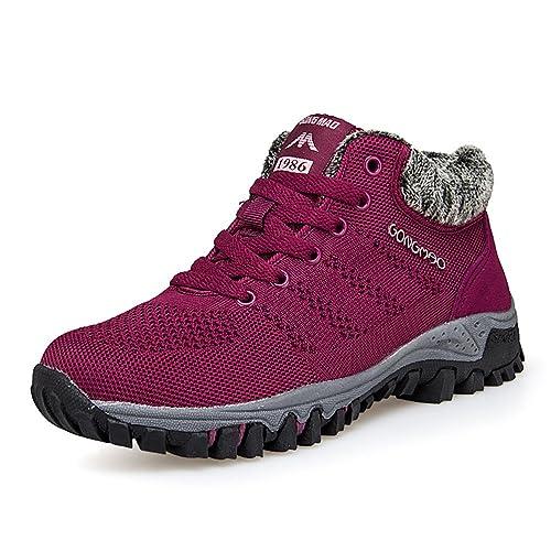 Damen Wander Sneaker Warme Gefüttert Winter Boots Winterschuhe Outdoor Sport Schuhe 35-40