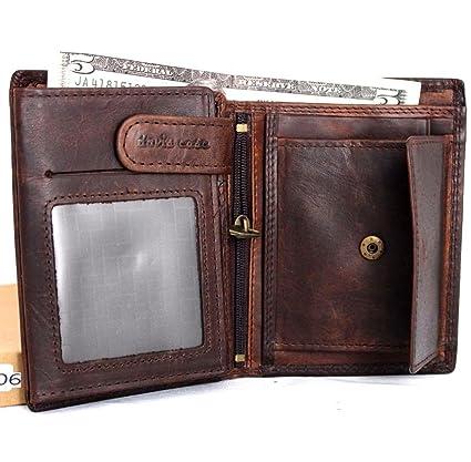 Amazon.com: Hombres Dinero clip de piel billetera moneda ...
