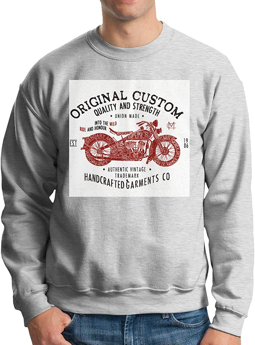 Dydelao Mens Crew Neck Pullover Long Sleeves Warm and Comfortable Casual