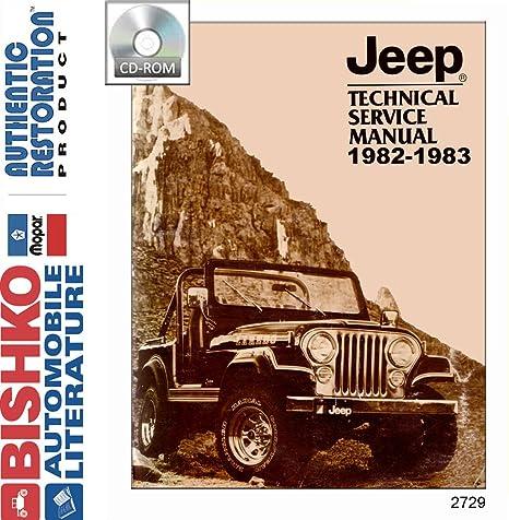 amazon com: bishko automotive literature 1982 1983 jeep cj wrangler shop  service repair manual cd engine electrical: automotive