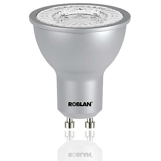 Roblan ECOSKYC100 Bombilla GU10, 7 W, Aluminio
