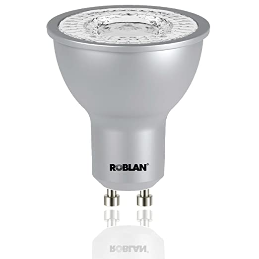 Roblan PROSKYF100 Bombilla GU10, 7 W, Aluminio