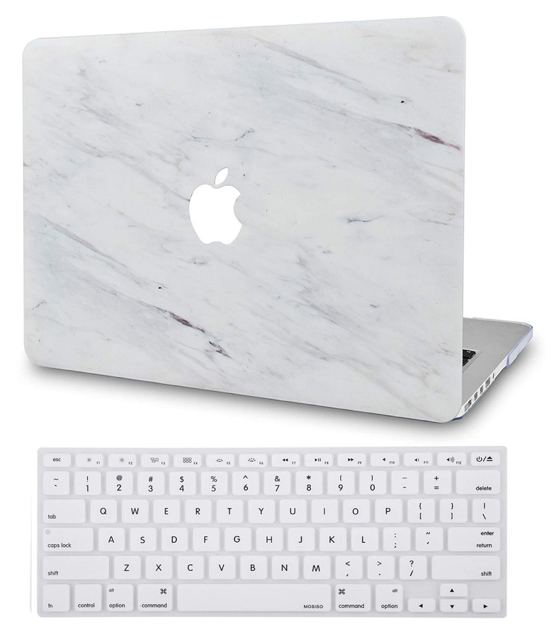 LuvCase/Laptop/Case/for/MacBook/Pro 13 2020//19//18//17//16 Release with//Without Touch Bar A2159//A1989//A1706//A1708 Rubberized/Plastic/Hard/Shell Cover Blue White Marble 1