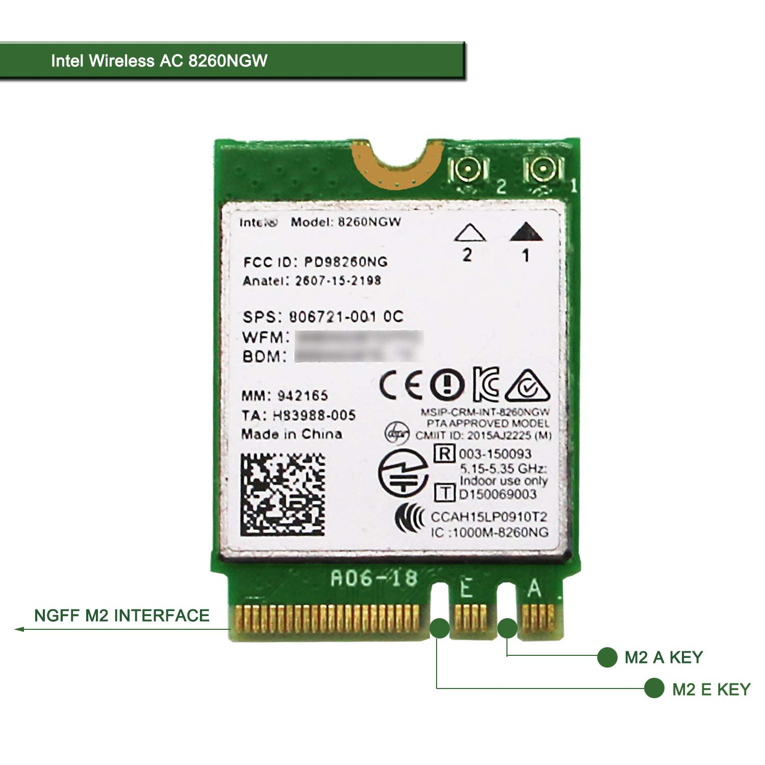 Mini PCIe Wireless Network Adapter for Laptop and Des (TB5Z)