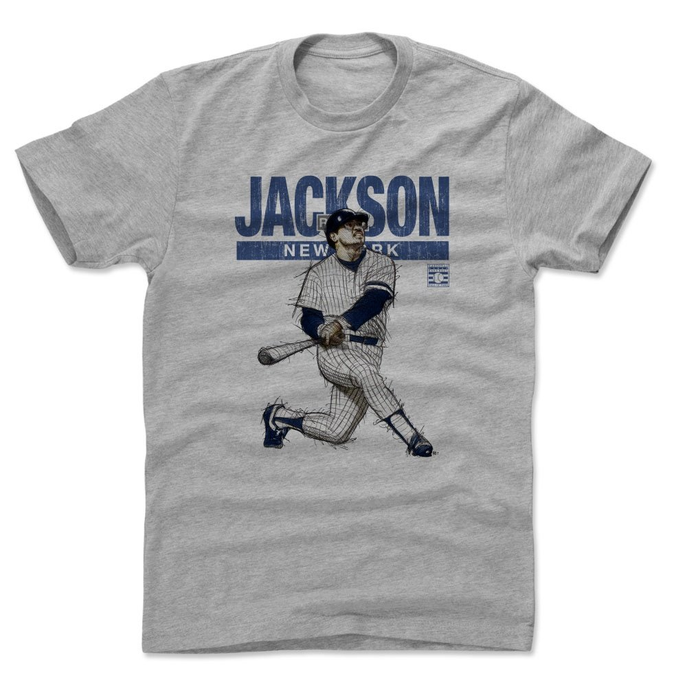 sale retailer 0f25e ada70 500 LEVEL Reggie Jackson Shirt - Vintage New York Baseball Men's Apparel -  Reggie Jackson Mr. October New York