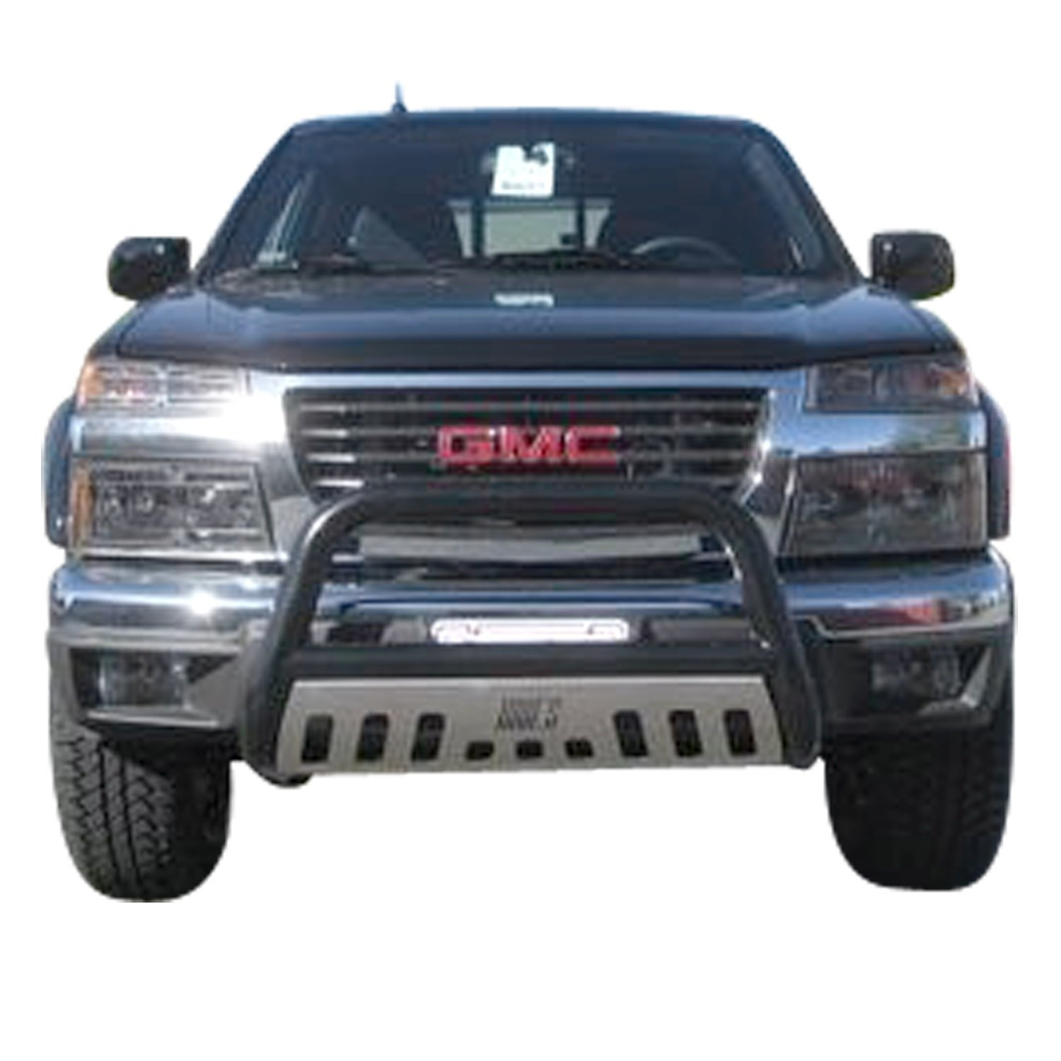 Aries Automotive B35-4010 Black Bull Bar with Stainless Steel Skid Plate
