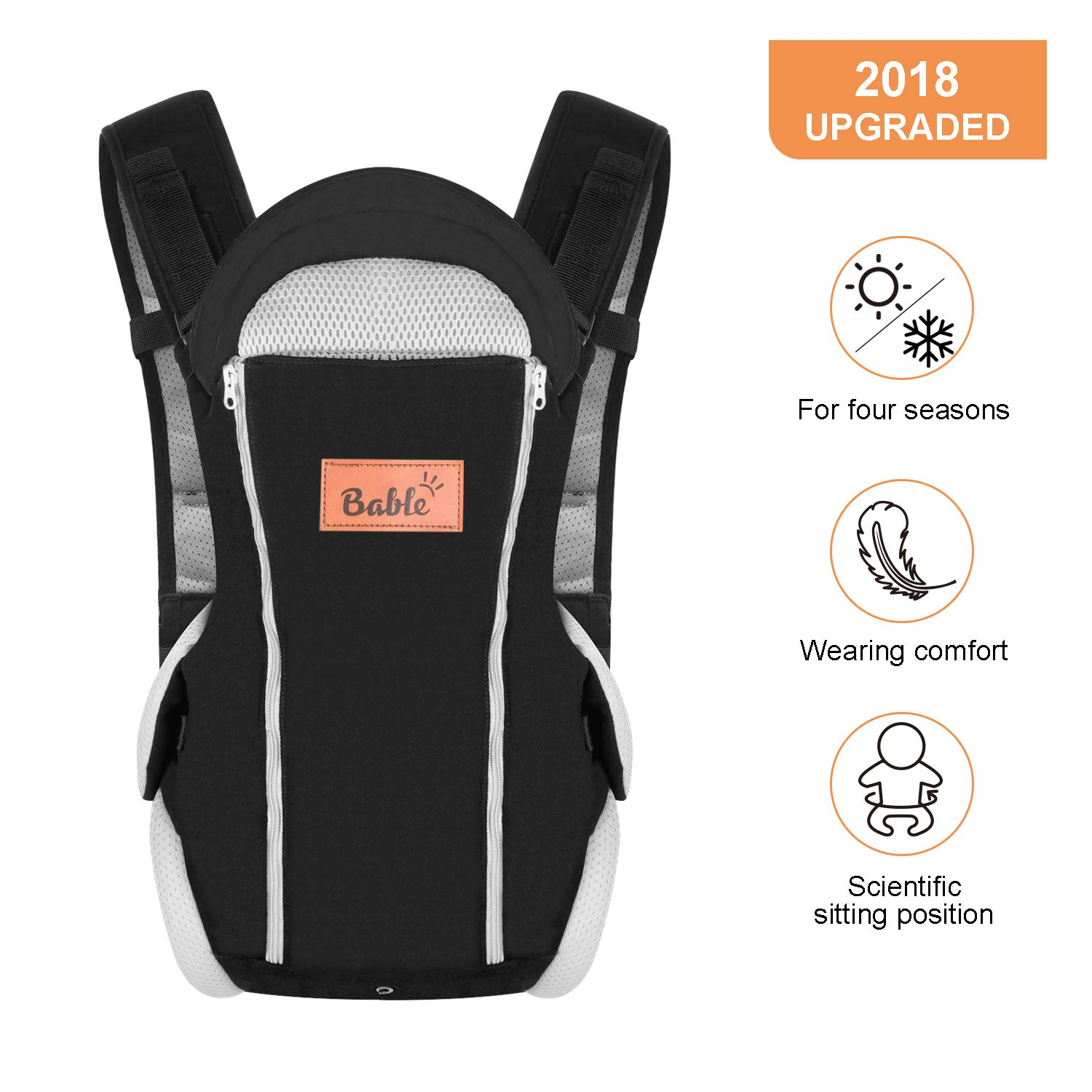 Bable Baby Carrier Ergonomic, Soft Carrier Newborn-for Baby 8-20 lbs-Baby Wrap Carrier Comfortable for All Seasons