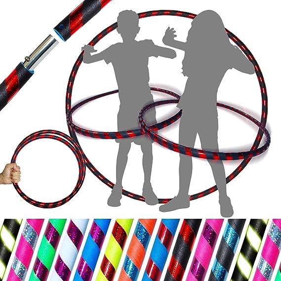 Enfants Ffitness Queta Hula Hoop Adulte Perte de Poids Adulte Massage /Éponge en Acier Inoxydable Taille Mince Hulahoop Hoop pour Adultes Corde /À Saute 6 Sections Orange Gris