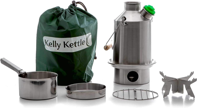 Kelly Kettle - Juego de Estufa de Campamento de Acero Inoxidable: Amazon.es: Deportes y aire libre