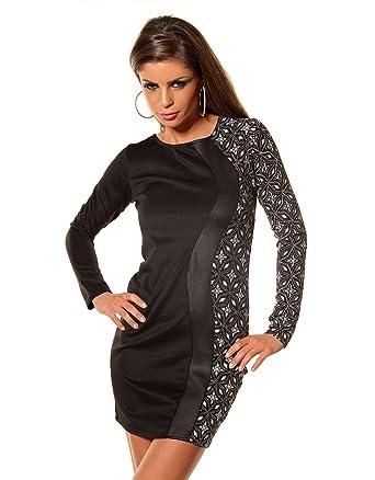 Damen Kleid Partykleid Minikleid Casualkleid Kleid mit ...