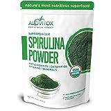 Alovitox Certified Organic Spirulina Powder 16 oz (454G) | Nutrient Dense Superfood with Antioxidants, Proteins, Vitamin A &