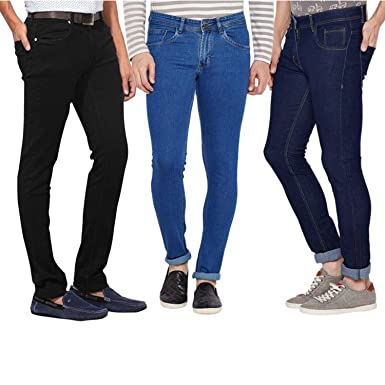 0f3ca11e Stylox Stylish Pack Of 3 Cotton Jeans For Men: Amazon.in: Clothing ...