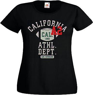 T-Shirt Camiseta Remera California, Los Ángeles Departamento DE Atleta Fútbol Fútbol Americano Equipo de la Bundesliga de Fútbol del Colegio Equipo de Béisbol Equipo Camiseta de Fútbol in Negro: Amazon.es: Ropa y