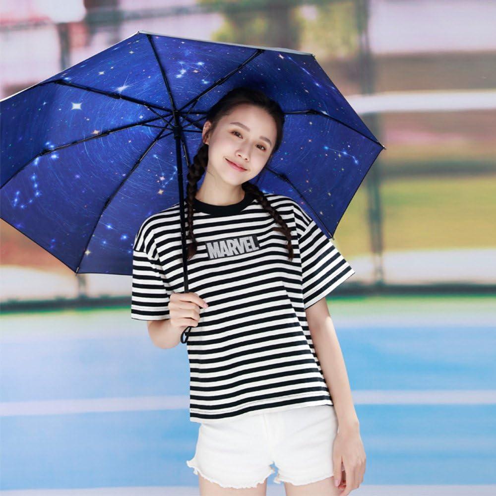 Color : B Fashion Home ZHILIAN Ultralight Small Parasols Female Sun Protection Anti-UV Five-fold Umbrella Mini Sunny Umbrella Dual Use Sun Umbrella