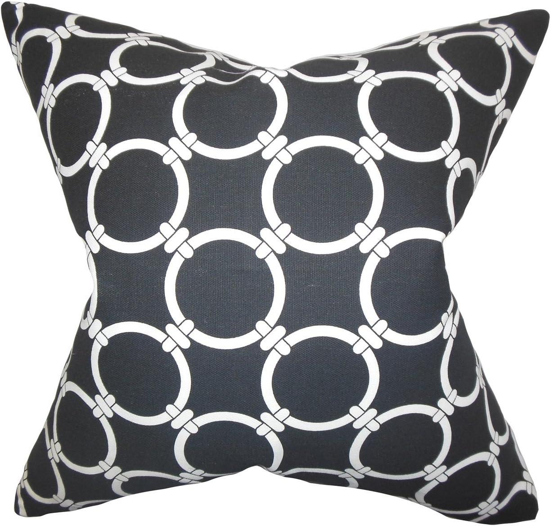Amazon Com The Pillow Collection Betchet Geometric Bedding Sham Black Standard 20 X 26 Home Kitchen