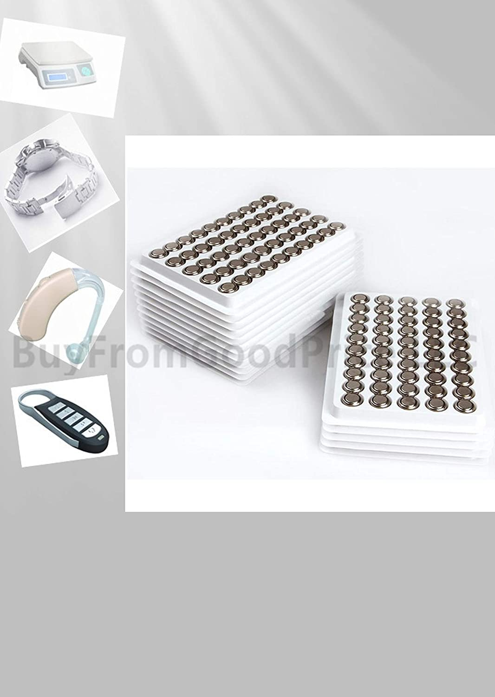 100 x AG13 LR44 A76 Alkaline button cell battery